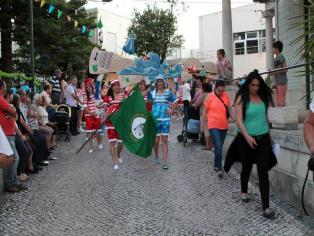 Saída para o desfile nas ruas